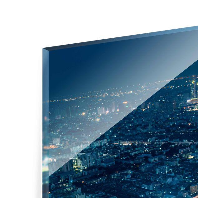 Glasbild - Eine Nacht in Bangkok - Hochformat 2:3