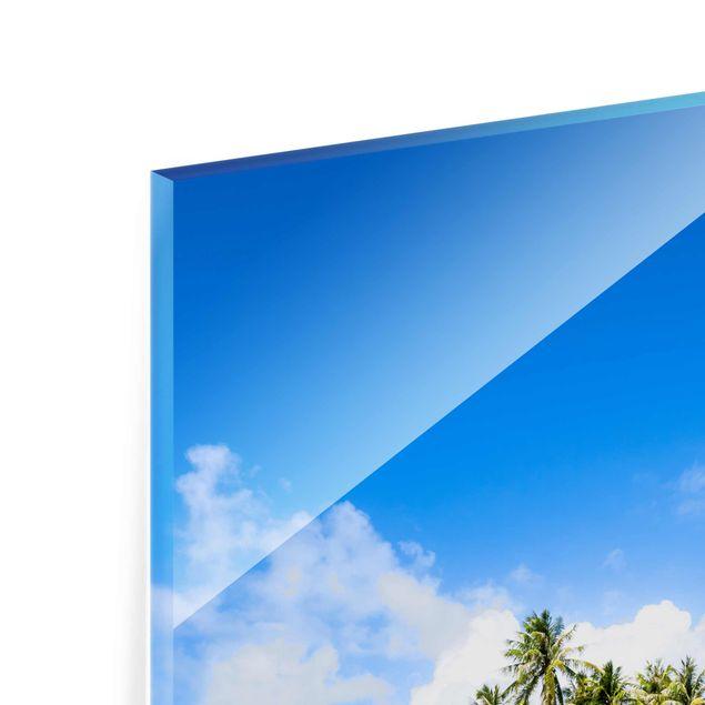 Glasbild - Crystal Clear Water - Hochformat 2:3