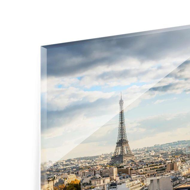 Glasbild - Nice day in Paris - Hochformat 3:4