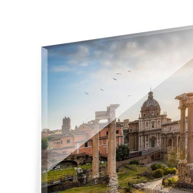 Glasbild - Forum Romanum bei Sonnenaufgang - Querformat 3:2