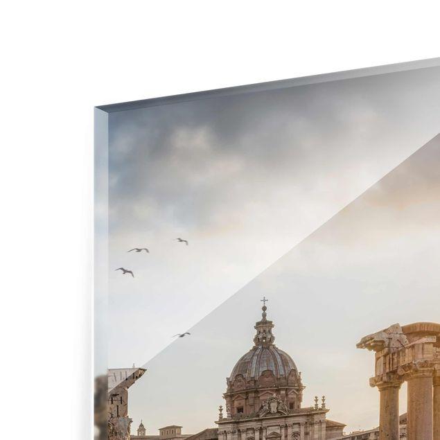 Glasbild - Forum Romanum bei Sonnenaufgang - Hochformat 3:4