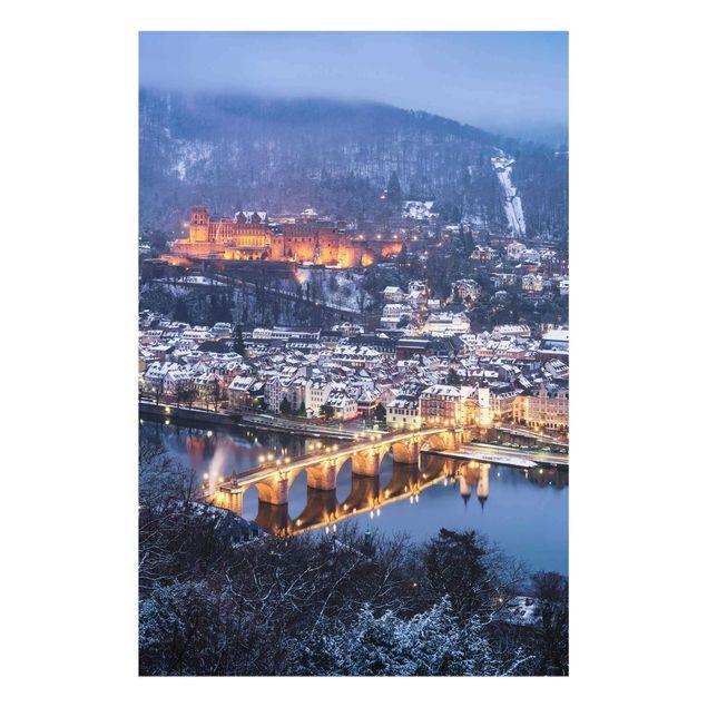 Glasbild - Winterliches Heidelberg - Hochformat 2:3