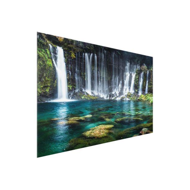 Glasbild - Shiraito Wasserfall - Querformat 3:2