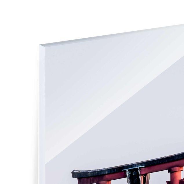 Glasbild - Torii im Wasser - Panel
