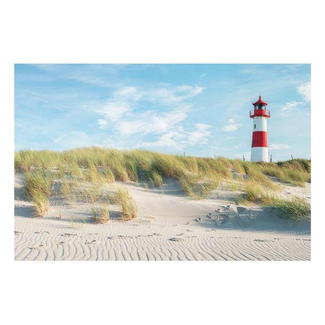 Glasbild - Leuchtturm an der Nordsee - Querformat 3:2