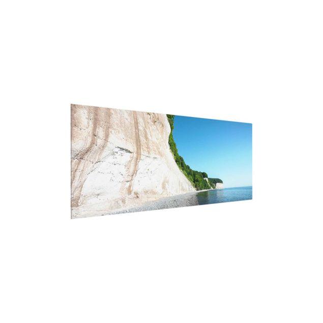 Glasbild - Kreidefelsen auf Rügen - Panorama