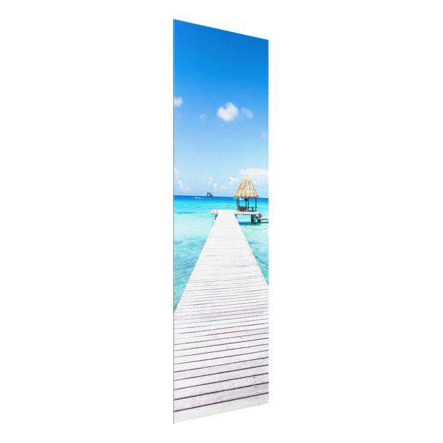 Glasbild - Urlaub in den Tropen - Panel