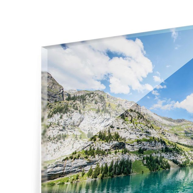 Glasbild - Traumhafter Bergsee - Querformat 4:3