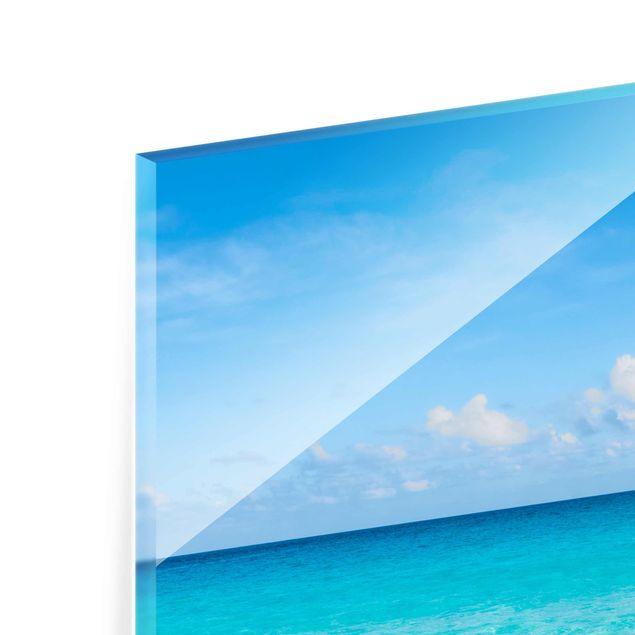 Glasbild - Blaue Welle - Hochformat 3:4