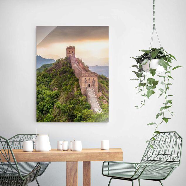 Glasbild - Die unendliche Mauer von China - Hochformat 3:4