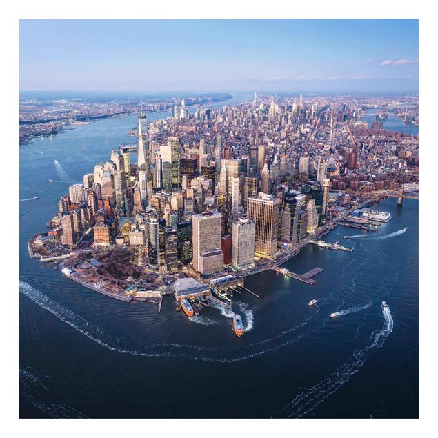 Glasbild - Big City Life - Quadrat 1:1
