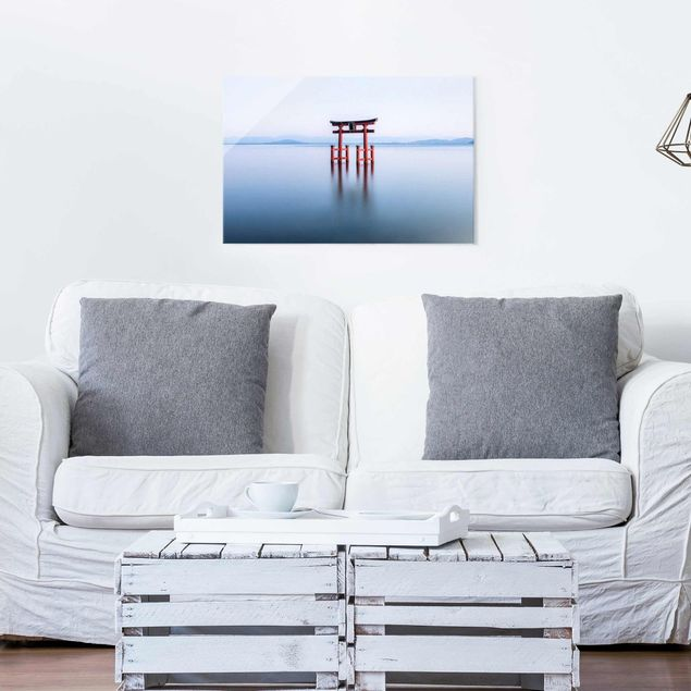 Glasbild - Torii im Wasser - Querformat 3:2