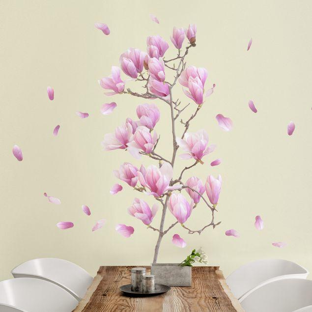 Wandtattoo Floral Magnolie Zweig Set