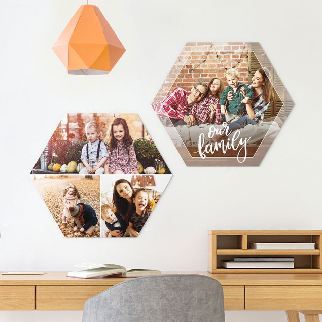 2-teiliges Hexagon Bild Forex selbst gestalten