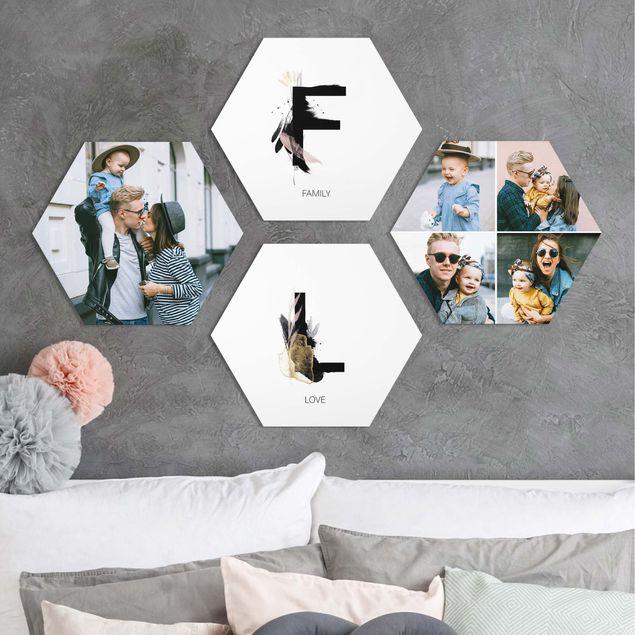 4-teiliges Hexagon Bild Forex selbst gestalten