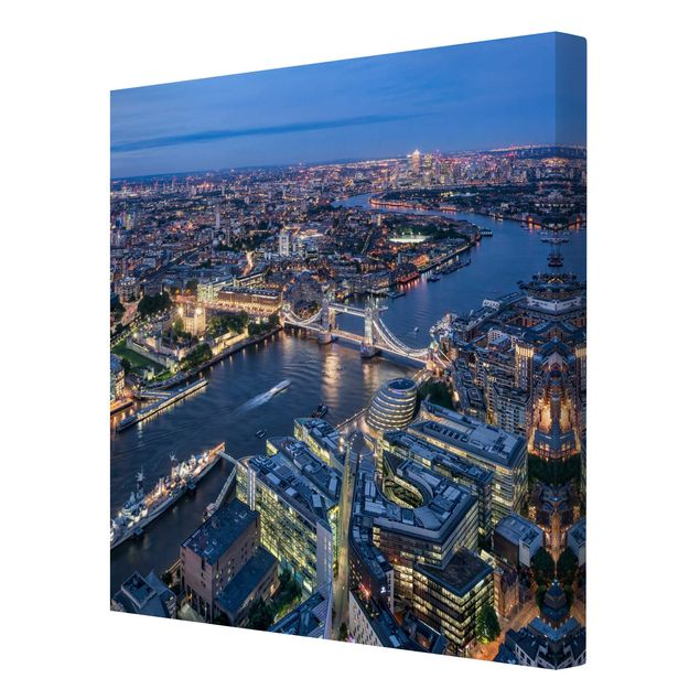 Leinwandbild - Nachts in London - Quadrat 1:1
