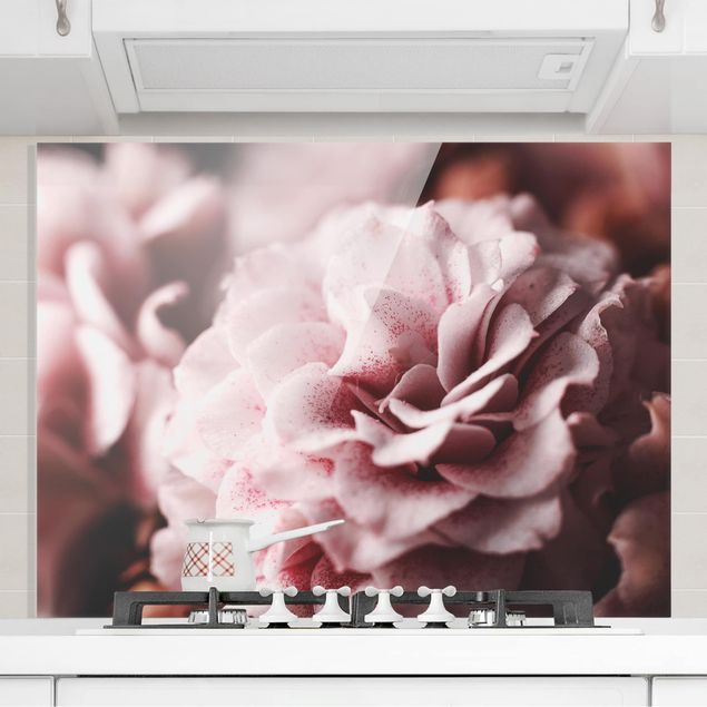 Spritzschutz Glas - Shabby Rosa Rose Pastell - Querformat 3:4