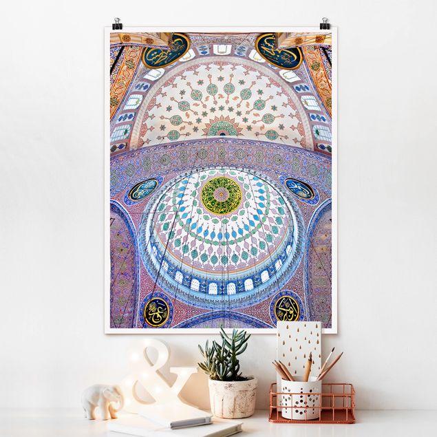 Poster - Blaue Moschee in Istanbul - Hochformat 3:4
