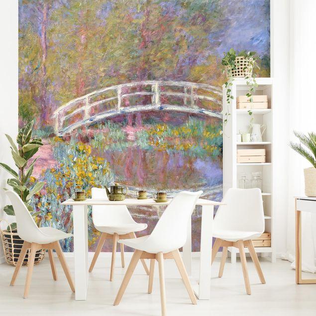 Fototapete - Claude Monet - Brücke Monets Garten