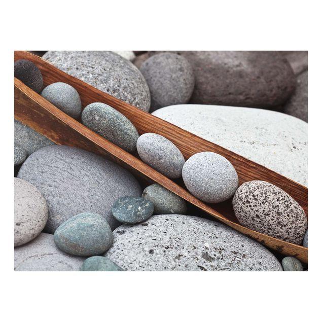 Glas Spritzschutz - Stillleben mit grauen Steinen - Querformat - 4:3