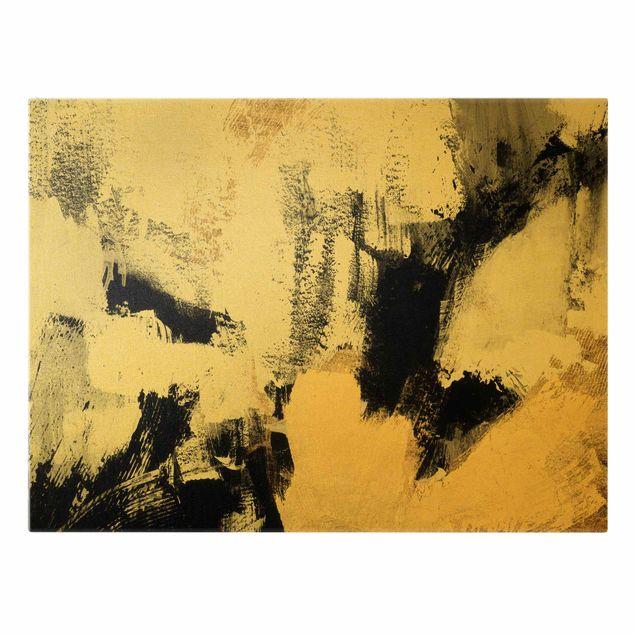Leinwandbild Gold - Gold Collage - Querformat 4:3