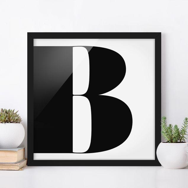 Bild mit Rahmen - Antiqua Letter B - Quadrat 1:1