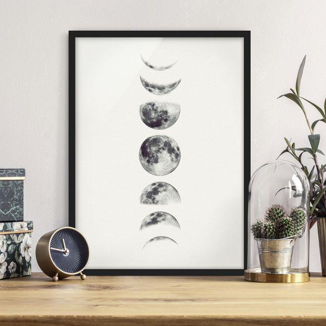 Bild mit Rahmen - Sieben Monde - Hochformat 3:4