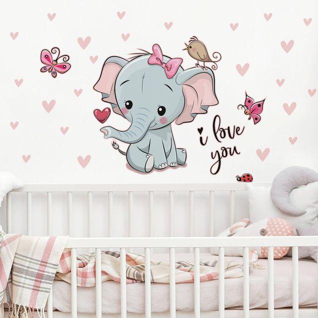 Wandtattoo - Elefant I love You