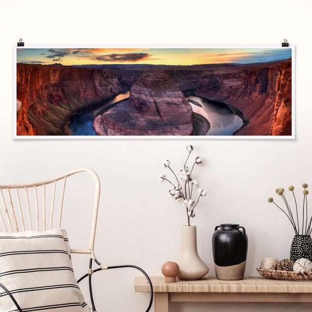 Poster - Colorado River Glen Canyon - Panorama Querformat