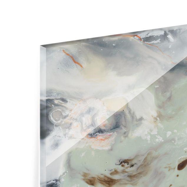 Glas Spritzschutz - Gezeiten mit Strandgut IV - Querformat - 4:3