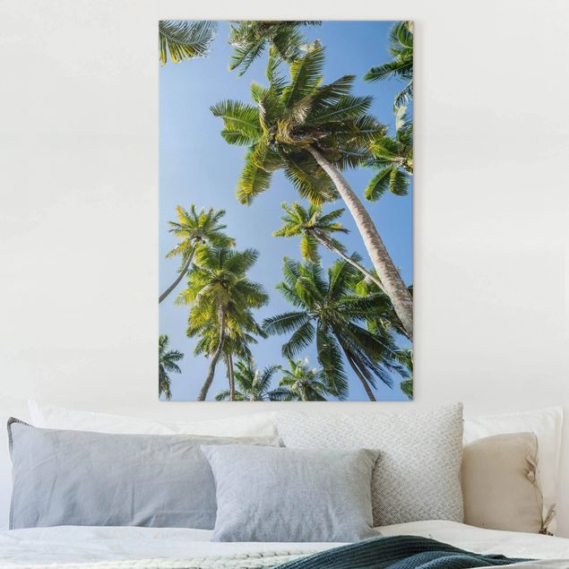 Leinwandbild - Palmen Himmel - Hochformat 2:3