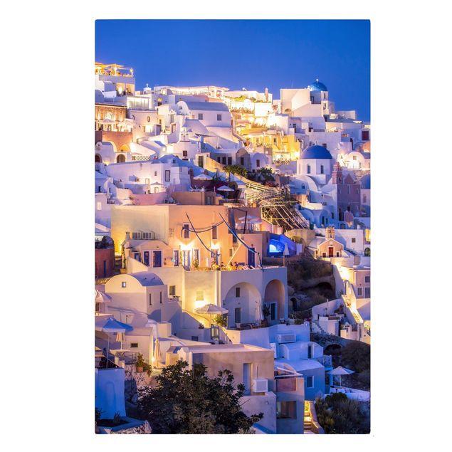Leinwandbild - Santorini at night - Hochformat 2:3