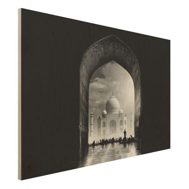 Holzbild - Das Tor zum Taj Mahal - Querformat 2:3
