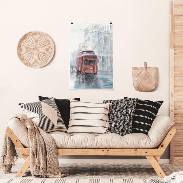 Poster - Straßenbahn-Studie II - Hochformat 3:2