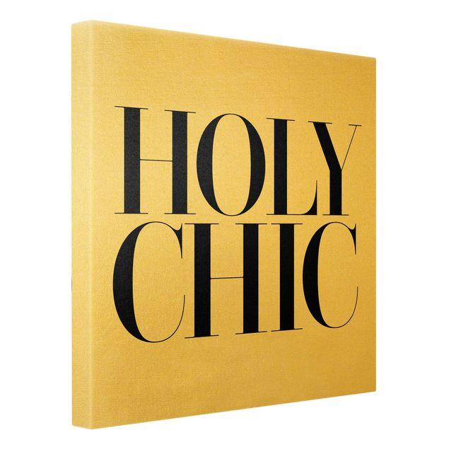 Leinwandbild Gold - HOLY CHIC - Quadrat 1:1