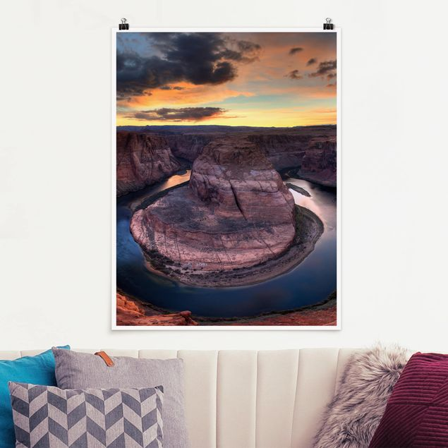Poster - Colorado River Glen Canyon - Hochformat 3:4