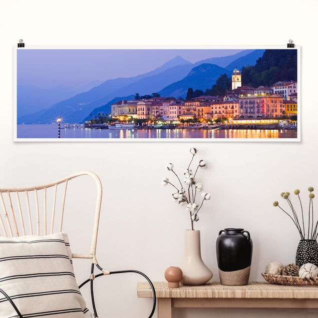 Poster - Bellagio am Comer See - Panorama Querformat