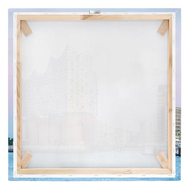 Leinwandbild - Elbphilharmonie Hamburg - Quadrat 1:1