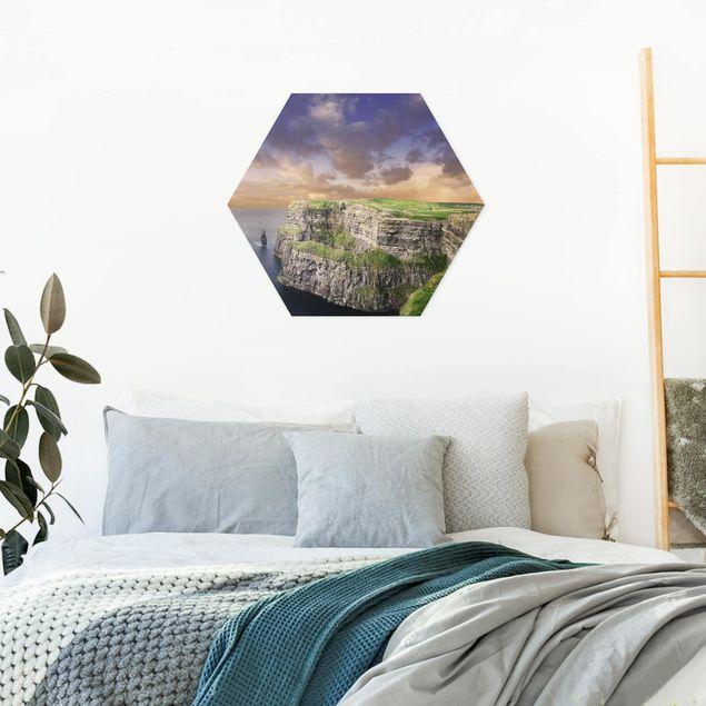 Hexagon Bild Alu-Dibond - Cliffs Of Moher
