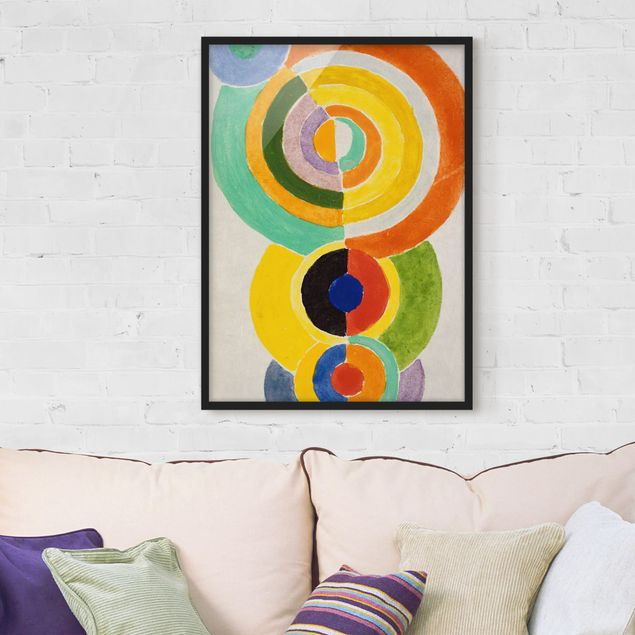 Bild mit Rahmen - Robert Delaunay - Rhythmus I - Hochformat 3:4