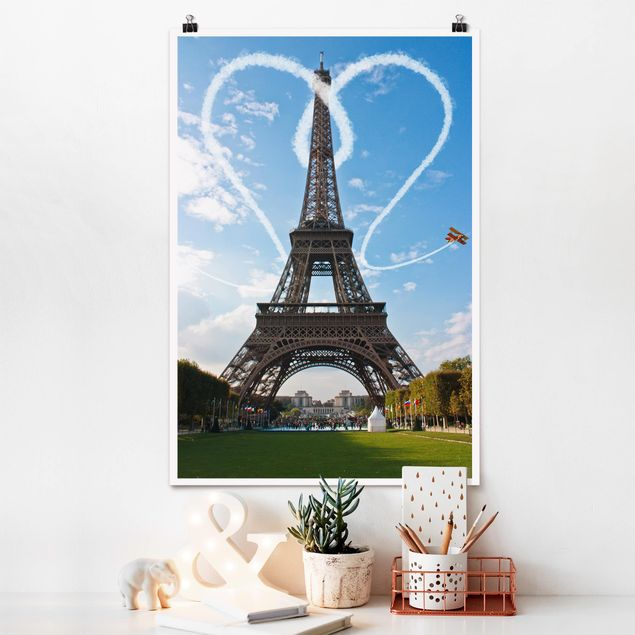 Poster - Paris - City of Love - Hochformat 3:2