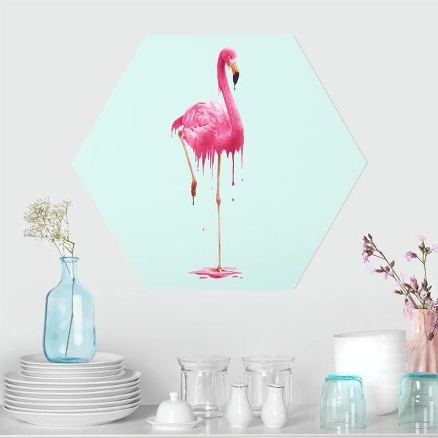Hexagon Bild Forex - Jonas Loose - Schmelzender Flamingo