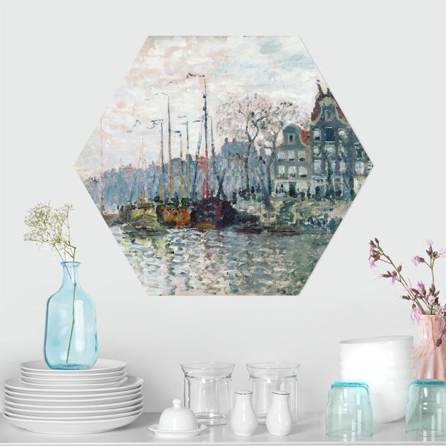 Hexagon Bild Alu-Dibond - Claude Monet - Kromme Waal Amsterdam