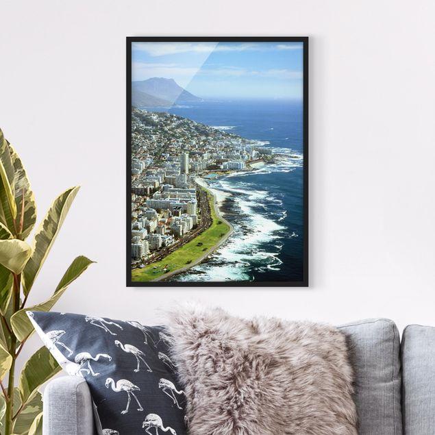 Bild mit Rahmen - Cape Town - Hochformat 3:4