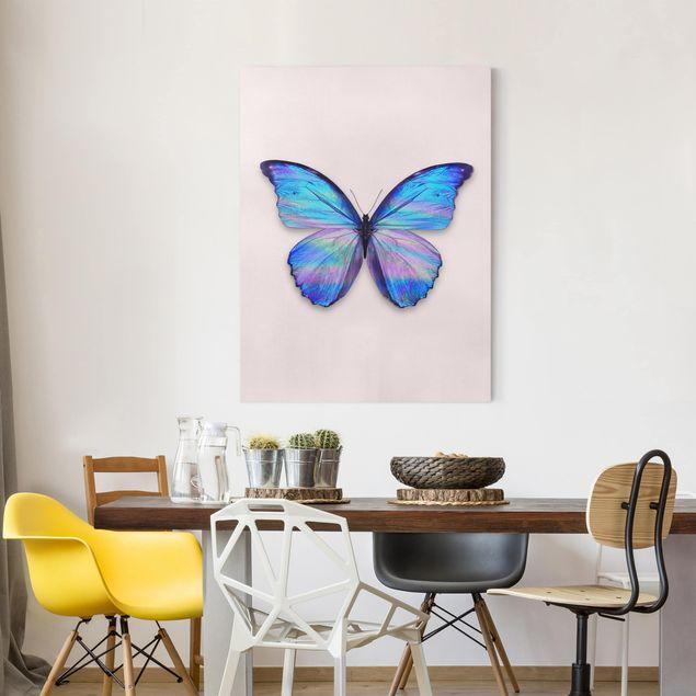 Leinwandbild - Jonas Loose - Holografischer Schmetterling - Hochformat 4:3