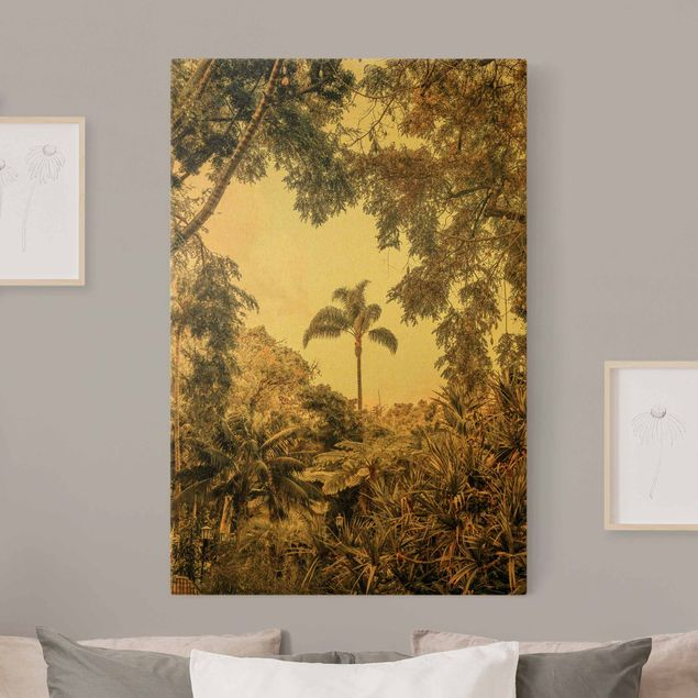 Leinwandbild Gold - Garten auf Madeira - Hochformat 2:3