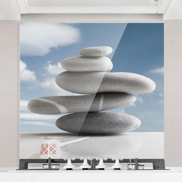 Glas Spritzschutz - In Balance - Quadrat - 1:1