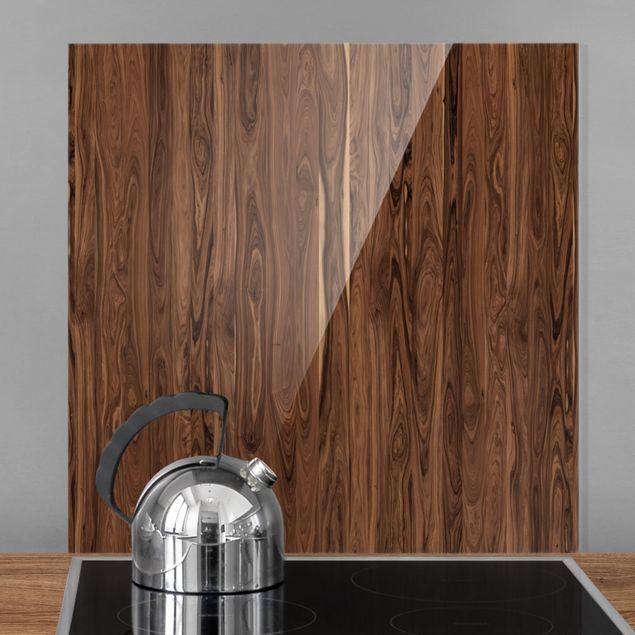 Glas Spritzschutz - Santos Palisander - Quadrat - 1:1