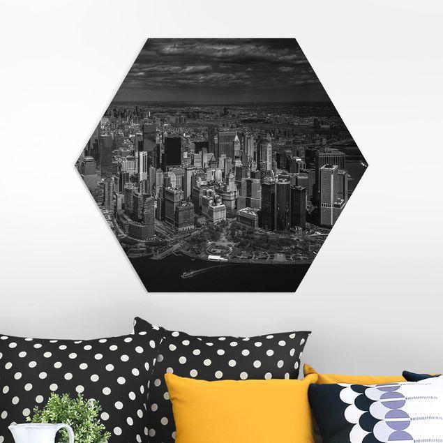 Hexagon Bild Forex - New York - Manhattan aus der Luft
