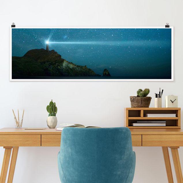 Poster - Leuchtturm - Panorama Querformat
